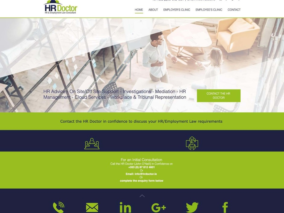 The HR Doctor website created by it'seeze Dublin
