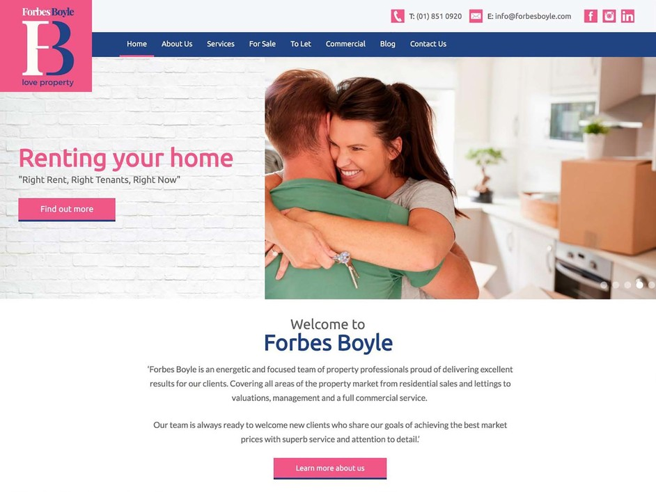 The Forbes Boyle website created by it'seeze Dublin